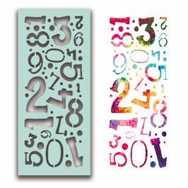 "Schablone ""Number Collage"" - Polkadoodles"