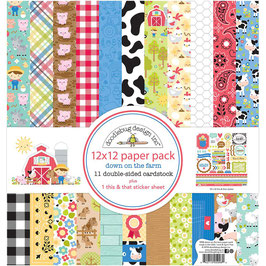 Down On The Farm Paper Pack 12x12 - Doodlebug