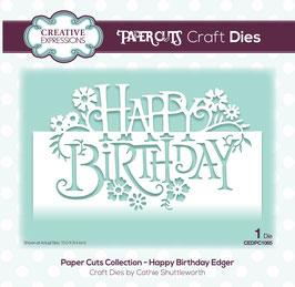"""Stanzschablone """"Happy Birthday Edger"""" - Creative Expression"""
