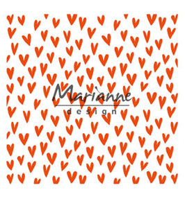 """Prägeschablone """"Trendy Hearts"""" - Marianne Design"""