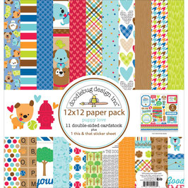 Puppy Love Paper Pack 12x12 - Doodlebug