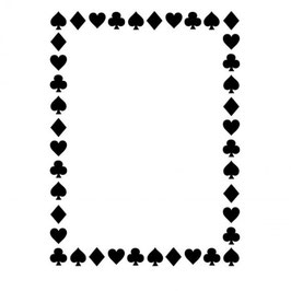 Prägeschablone Suit Of Card Border - Darice