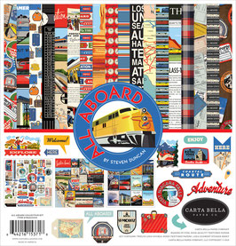 All Aboard 12x12 Collection Kit  - Carta Bella