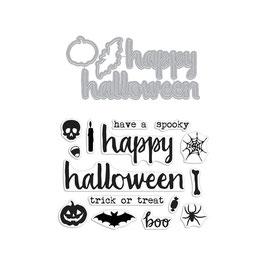 """Stempel- und Stanzenset  """"Halloween Trimmings"""" - Hero Arts"""