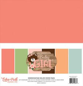 Baby Girl 12x12 Coordinating Solids  - Echo Park