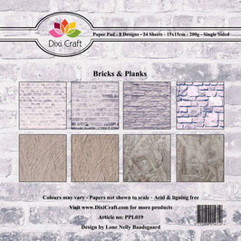 "Paper Pack ""Bricks & Planks"" - Dixi Craft"