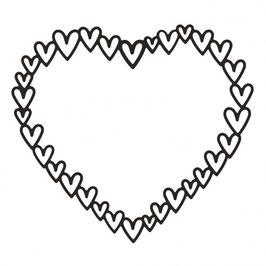 """Stanzschablone """"Heart Frame"""" - Vaessen"""