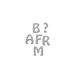 Klebeschrift ABC, silber