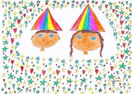 Hochzeitsbild des glücklichen Königspaares