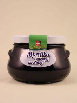 Myrtilles sauvages au sirop