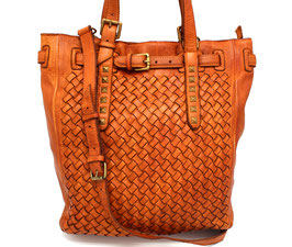 Leather Bag Made in Italy Handmade Woven Leather Florence