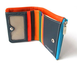 Thin Small leather wallet Daniela Moda cow leather wallet