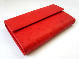 Women's Leather wallet Elegant Ostrich Red