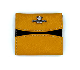 Small leather wallet coin cash Daniela Moda New Color Yellow