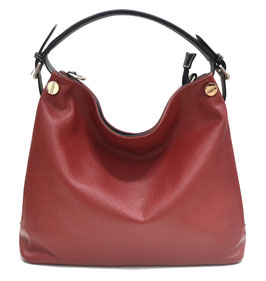 DANIELA MODA Leather bag vera pelle Red new