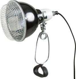 Reflektor-Klemmleuchte mit Schutzgitter