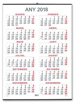 Calendari Anual 50x69