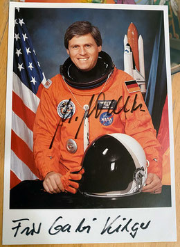 Ulrich Walter, Signed official Autograph Card