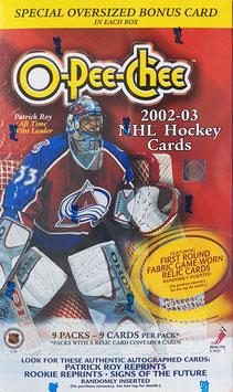 O-Pee-Chee Box Hockey Trading Cards 2002-03