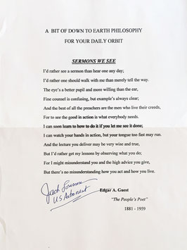 Jack Lousma (NASA Astronaut) signed Poem