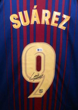 Luis Suarez signed FC Barcelona Shirt