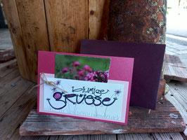 Karte Pink/violett 3 (FLKA1002)