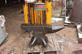 Sold to Charles # 2208 - John Brooks , 5 CWT ANVIL , weighed 528,5 lbs , special dedication plate , very nice straight unrepaired condition