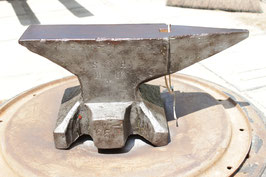 # 2803 - antique SH anvil dated 1906 ! - NO.3 , remains of old paint , marked 65 kg = 143 lbs, good in shape , hand forged , no repairs