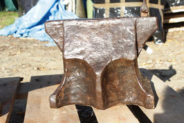 # 3360 - very ancient hand forged church window style anvil with 108 lbs weighed