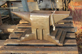 # 3379 - nice east german industrial church window anvil with 50 kg / 110 lbs