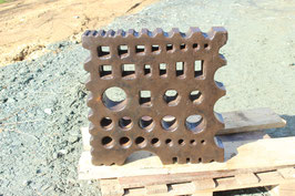 # 3474 - super big german swage block with a very versatile hole pattern in good condition . weighed 368 lbs !