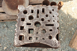 # 2456 - swage block , german , 15,5 x 15, 5 x 4 inches