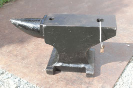 # 3292 - old german single horn table anvil with about 79 lbs