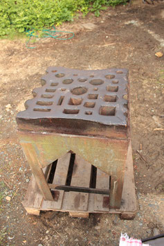 # 2399 - large swage block with stand . nearly 20 x 20 inches !
