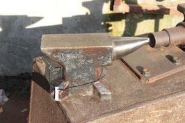 # 2233  - german single horn table anvil in good shape , 53 lbs