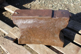 # 2708 - primitiv hornless german anvil dated 1840 with 423 lbs weighed , hand forged