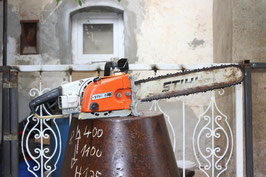 # 1926 - Stihl E30 - the probably strongest elektrical chainsaw in the world with 3 phase motor