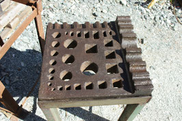 # 2589 - very rare vintage L - shape swage block , german 19x19 inches
