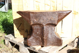 # 2143 - antique baroquean french church window style anvil , dated 1764 , about 275 lbs