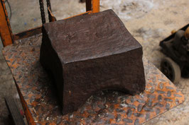 # 1871 - early spanish medieval anvil . 13th / 14th century . aprox.123 lbs TOP MUSEUM QUALITY !