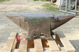 # 3039 - french 4 foot anvil with 421 lbs weighed - nice good working condition
