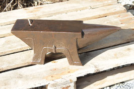 # 2754 - historical french 4 foot anvil with with 103 lbs weighed , very nice condition - for use or collection