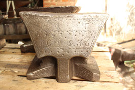 # 2038.1 - Top museum piece anvil : dated 1836 all sides decorated , estimated 85 kg/187 lbs