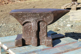 # 2720 - french museum / collectors anvil , dated 1806 , name and decorations , 205 lbs weighed