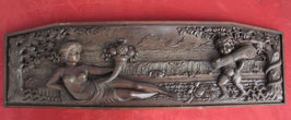 # ANTIQUE WOODEN CARVING - VERY NICE EMBOSSED - origin AUSTRIA / GERMANY