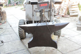 # 2108 - Super FAT forged german anvil 880 lbs weighed !! very nice in shape , rebound , face and edges