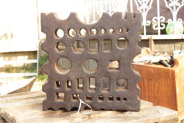 # 2647 - german swage block , very nice versatile pattern , all holes clear , 17,8 x 17,8 x 4 inches , 232 lbs weighed