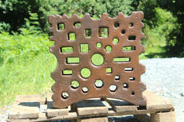 # 3585 - BIG swage block  , nearly 18x18x4 inches , about 330 lbs , good versatile hole pattern