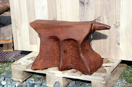 # 2294 - antique german church window anvil , aprox. 290 lbs , restored condition