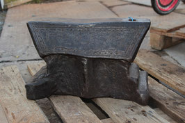 # 2328 - Museum piece of an anvil , dated 1839 - very highly decorated - top dark patina , about 170 lbs